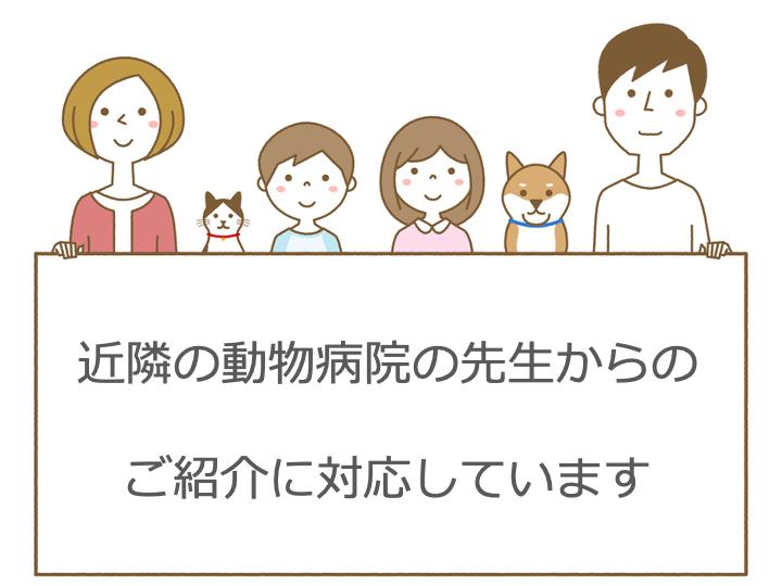 近隣の動物病院からのご紹介 西山動物病院 千葉県・埼玉県・茨城県